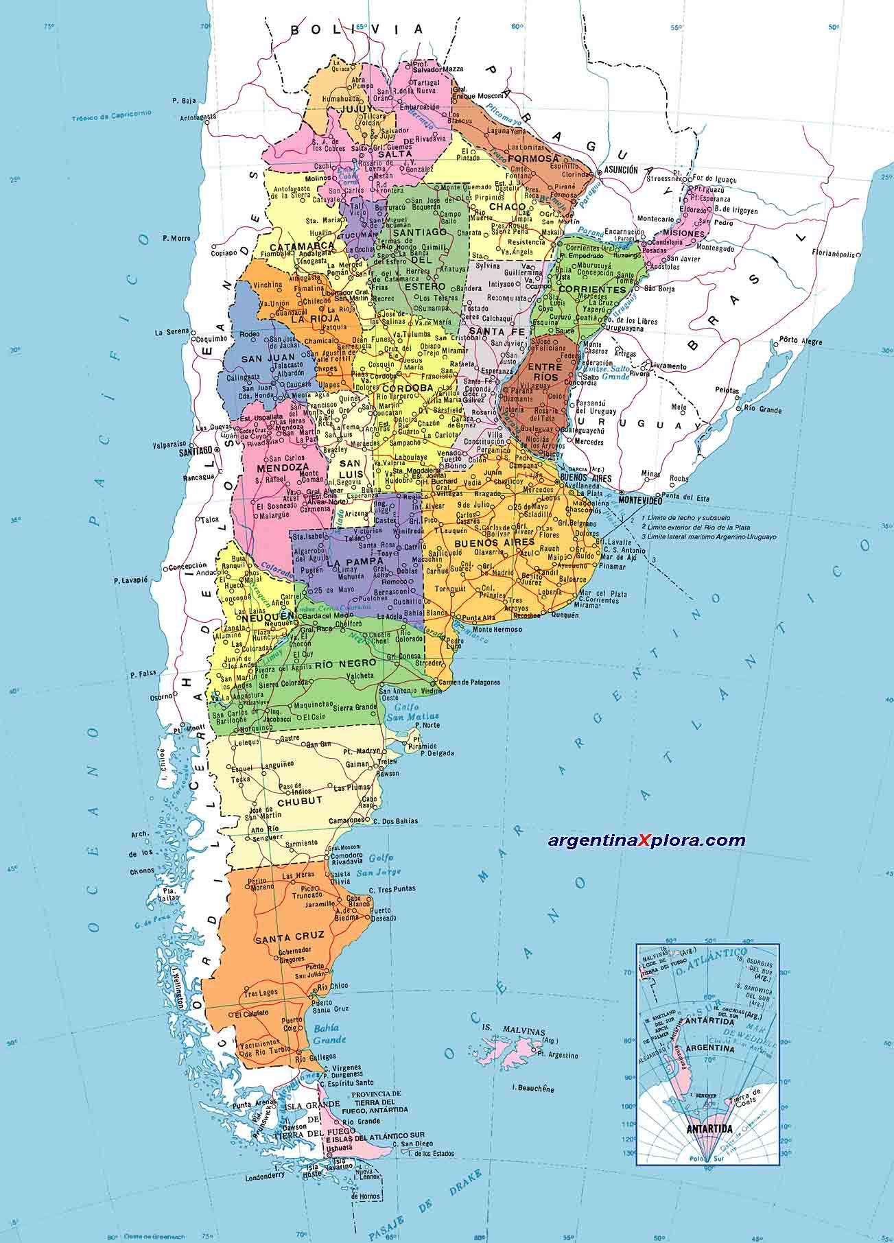 Mapa de Argentina - División ...