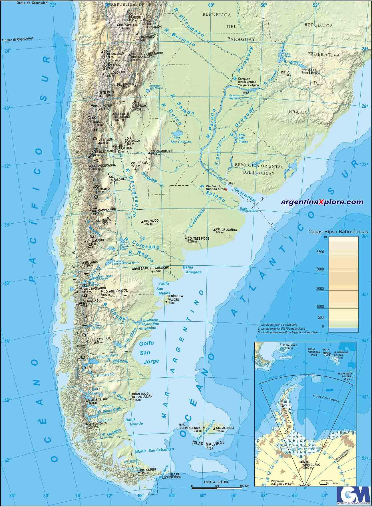 Mapa Fisico De Argentina Aspecto Físico - Argentina mapa